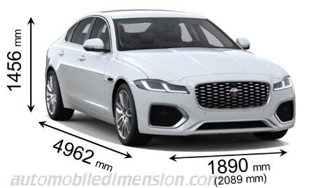 Jaguar XF 2021 dimensions with length, width and height