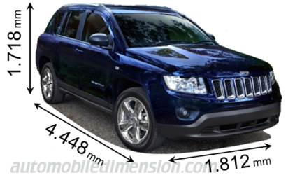 Jeep Compass 2011 dimensions
