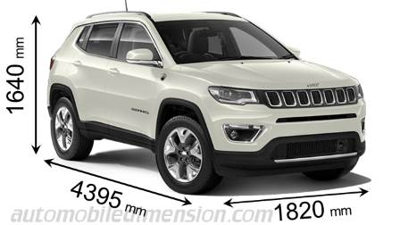 dimensions jeep compass 2017 coffre et int rieur. Black Bedroom Furniture Sets. Home Design Ideas