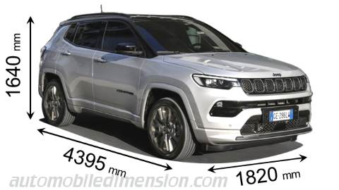 Jeep Compass afmetingen