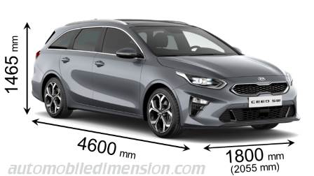 Kia Ceed Sportswagon 2019 dimensions with length, width and height