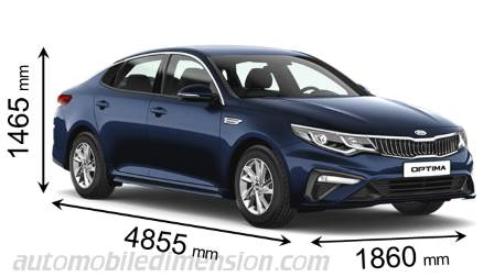 Kia Optima cotes en mm