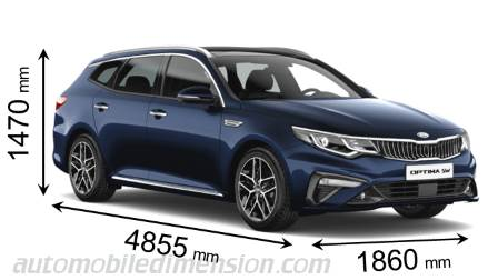 Kia Optima Sportswagon cotes en mm