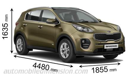 Dimension Kia Sportage 2016