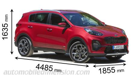 Dimension Kia Sportage 2018