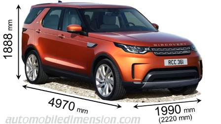 land rover discovery 2017 dimensions boot space and interior. Black Bedroom Furniture Sets. Home Design Ideas