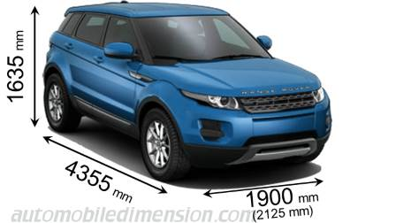 Dimension Land-Rover Range Rover Evoque 2011