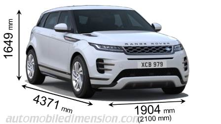 Dimension Land-Rover Range Rover Evoque 2019
