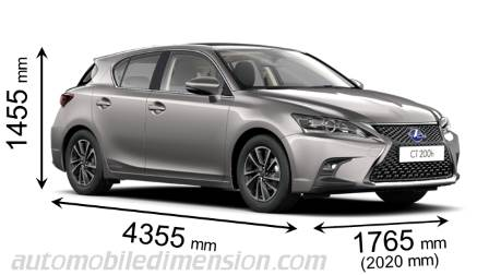 Dimension Lexus CT 2018