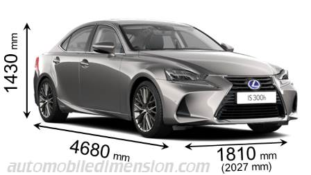 Dimensions Of Lexus Cars Showing Length Width And Height