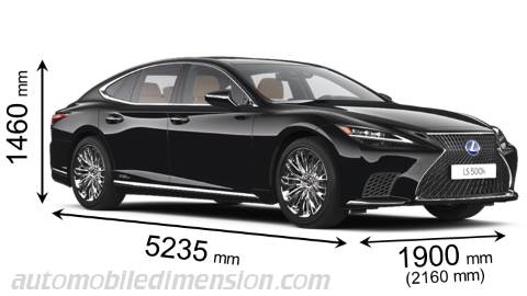 Lexus LS 2021 dimensions with length, width and height