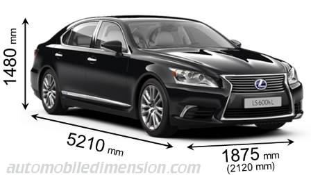 Lexus LS L measures in mm
