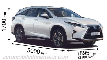 Lexus RX L measures in mm