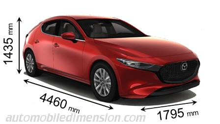 Mazda 3 2019 Dimensions Boot Space And Interior