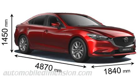 Mazda 6 2018 dimensions with length, width and height