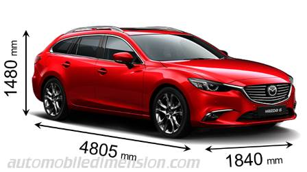 Mazda 6 Tourer measures in mm