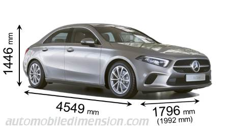 Mercedes-Benz Classe A Sedan dimensioni