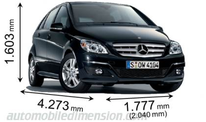 Dimension Mercedes-Benz B 2008
