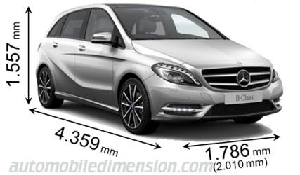 Dimension Mercedes-Benz B Sports Tourer 2012