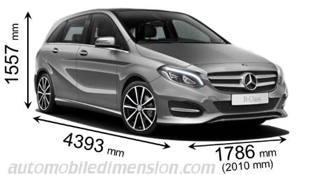 Mercedes-Benz Classe B Sports Tourer dimensions