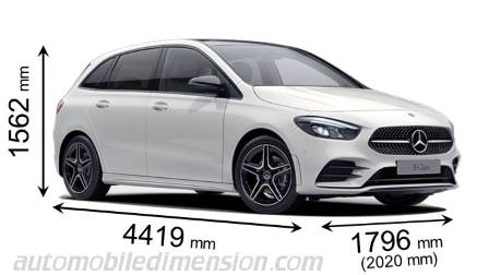 Mercedes-Benz Classe B Sports Tourer dimensioni