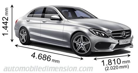 Dimensions of mercedes benz cars showing length width and for 2016 mercedes benz c class dimensions