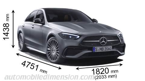 Dimension Mercedes-Benz C 2021