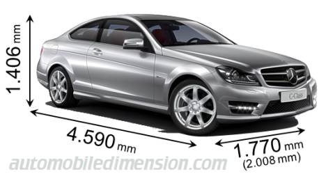 Dimensioni Mercedes-Benz C Coupé 2011