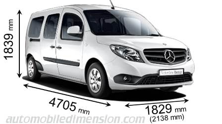 Mercedes-Benz Citan Tourer Extralong dimensions