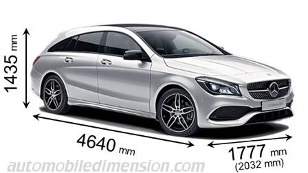 Mercedes-Benz CLA Shooting Brake dimensions