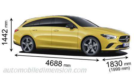 Mercedes-Benz CLA Shooting Brake dimensioni