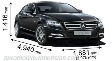 Dimensioni Mercedes-Benz CLS 2011