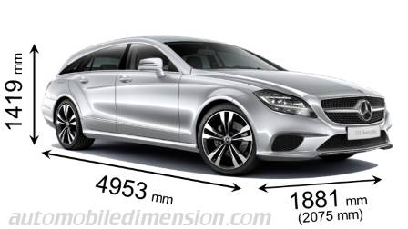 Mercedes-Benz CLS Shooting Brake dimensions