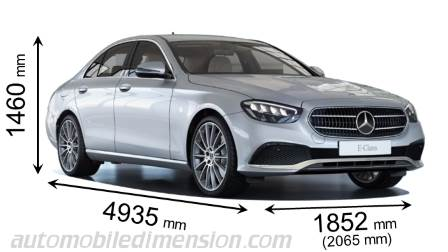 Mercedes-Benz Classe E misure in mm