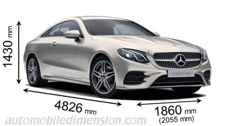 Mercedes-Benz Classe E Coupé dimensions