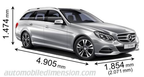 Mercedes-Benz E Estate 2013 afmetingen