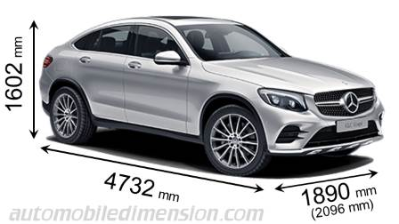 mercedes benz glc coup 2016 dimensions boot space and interior. Black Bedroom Furniture Sets. Home Design Ideas