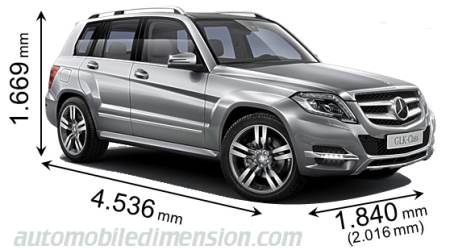 Dimension Mercedes-Benz GLK 2012
