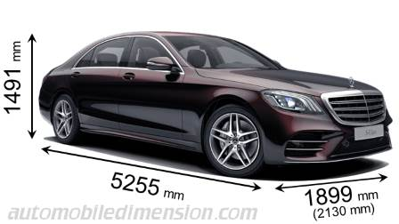 Mercedes-Benz S-Class Long measures in mm