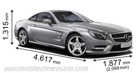 Mercedes-Benz SL 2012 dimensions