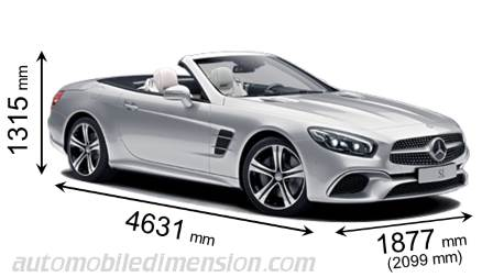 Mercedes-Benz SL dimensions