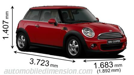 MINI 3-door 2010 Abmessungen