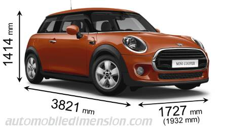 MINI 3-door 2018 Abmessungen