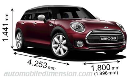 dimensions of mini cars showing length width and height. Black Bedroom Furniture Sets. Home Design Ideas