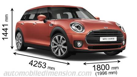Dimensioni MINI Clubman 2019