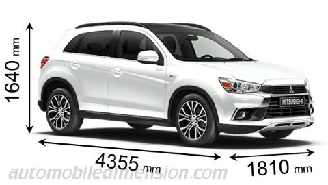 Dimension Mitsubishi ASX 2017