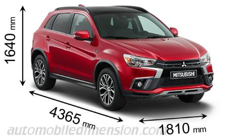 Dimension Mitsubishi ASX 2018