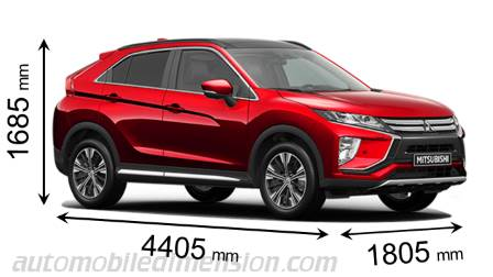 Mitsubishi Eclipse Cross dimensions