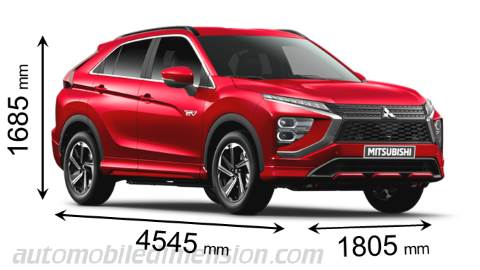 Mitsibishi Eclipse Cross Abmessungen