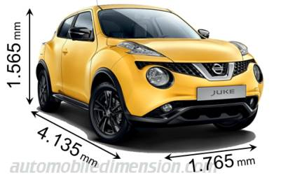 Nissan Juke 2014 dimensions with length, width and height